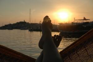 ... und immer eine Handbreit Sonne zwischen den Füßen ...