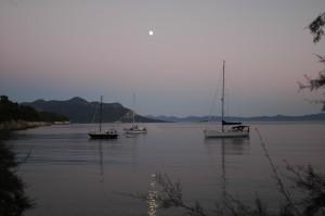 Im Mondenschein vor der Insel Mljet